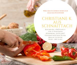 1. Preis Kochkurs Provence bei Petra Braun-Lichter | Gewinnspiel Arômes de Provence