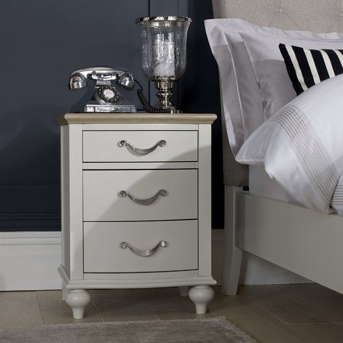 August Grove Osvaldo 3 Drawer Bedside Table With Images Modern