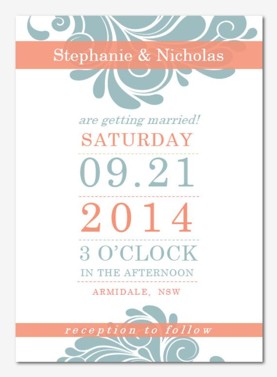 DIY Printable MS Word Wedding Invitation Template W032 - Instant - ms word invitation templates