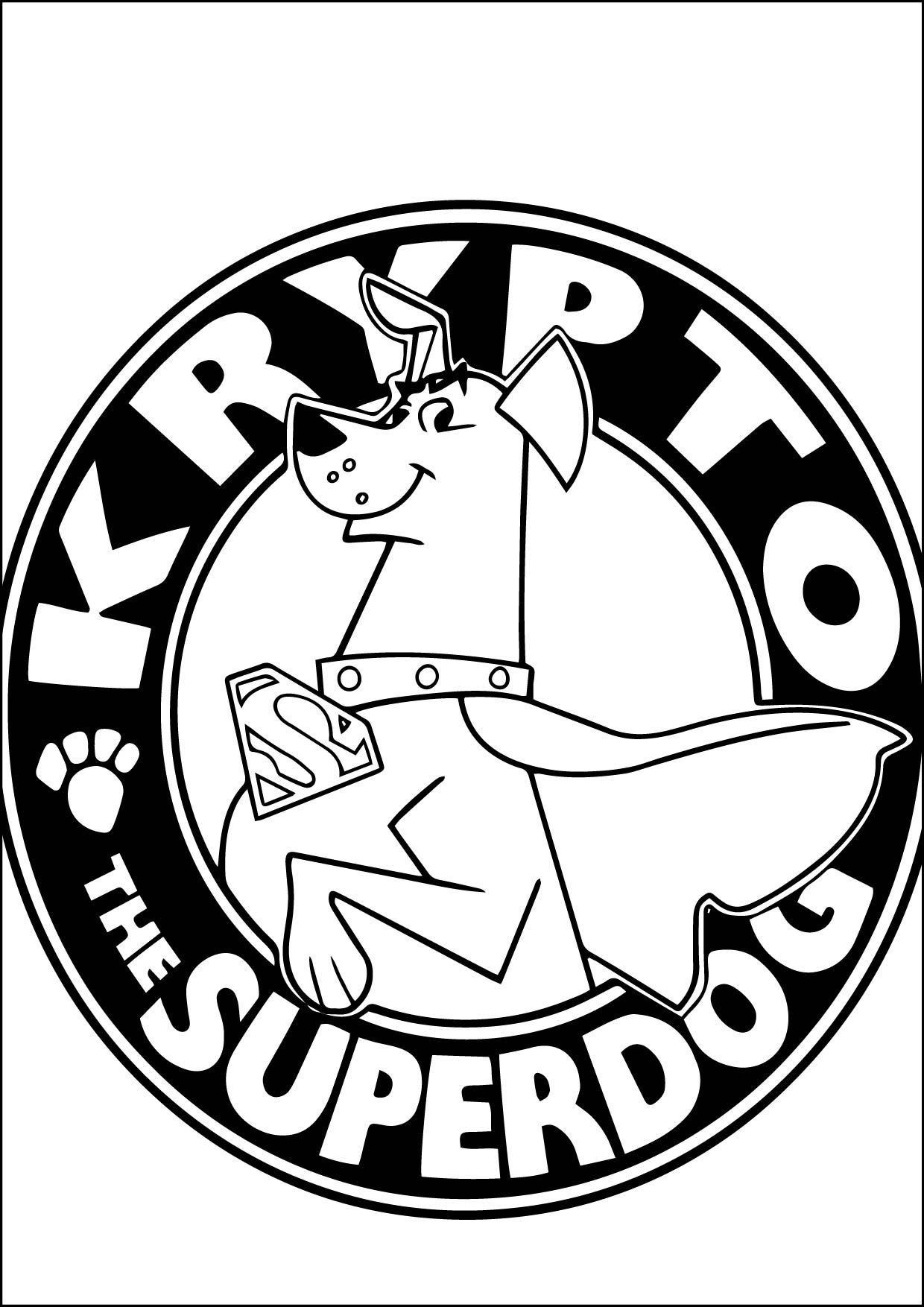 Cool Krypto The Superdog Coloring Page