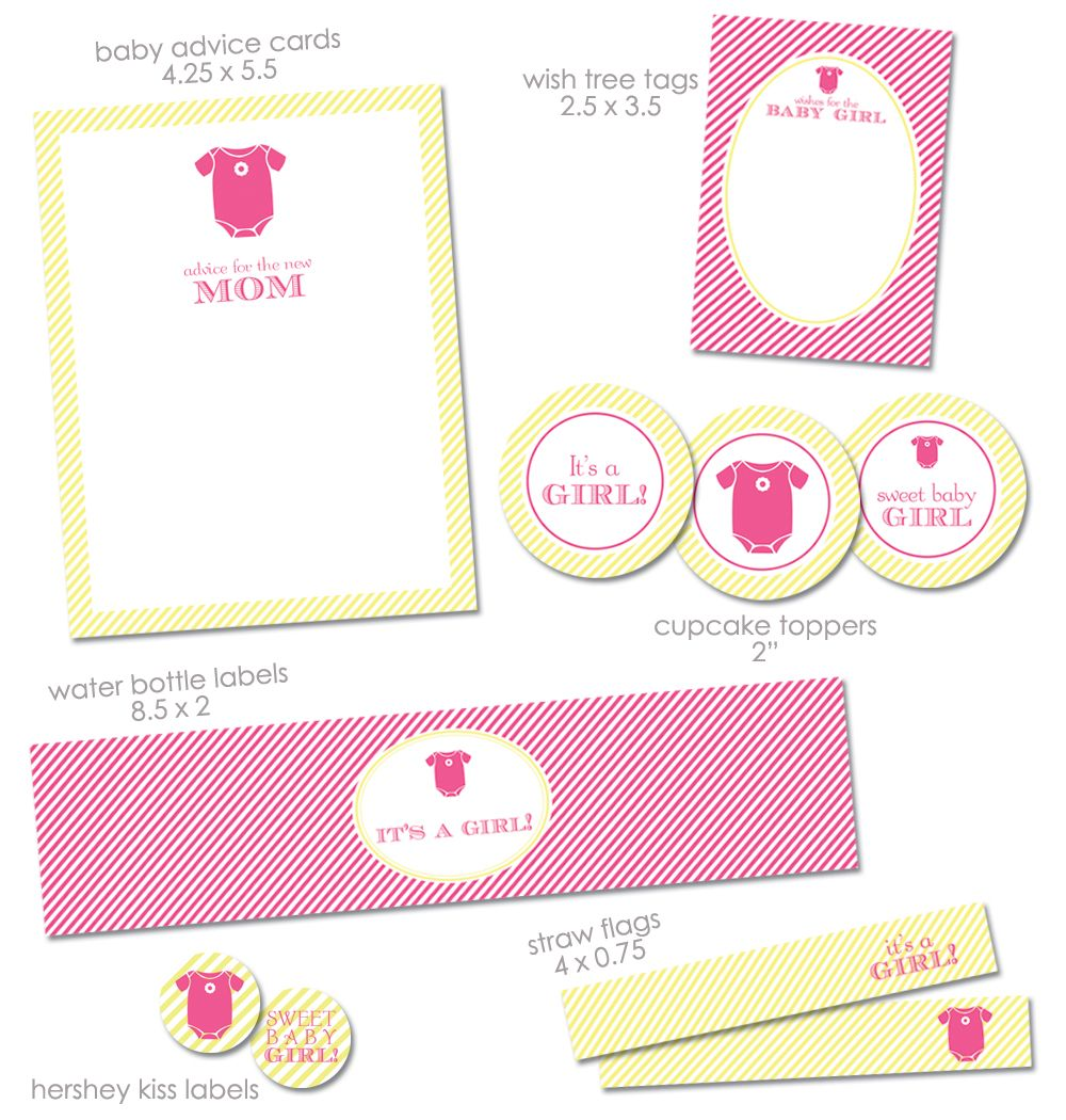 FREE Baby shower printables Apples and Babies