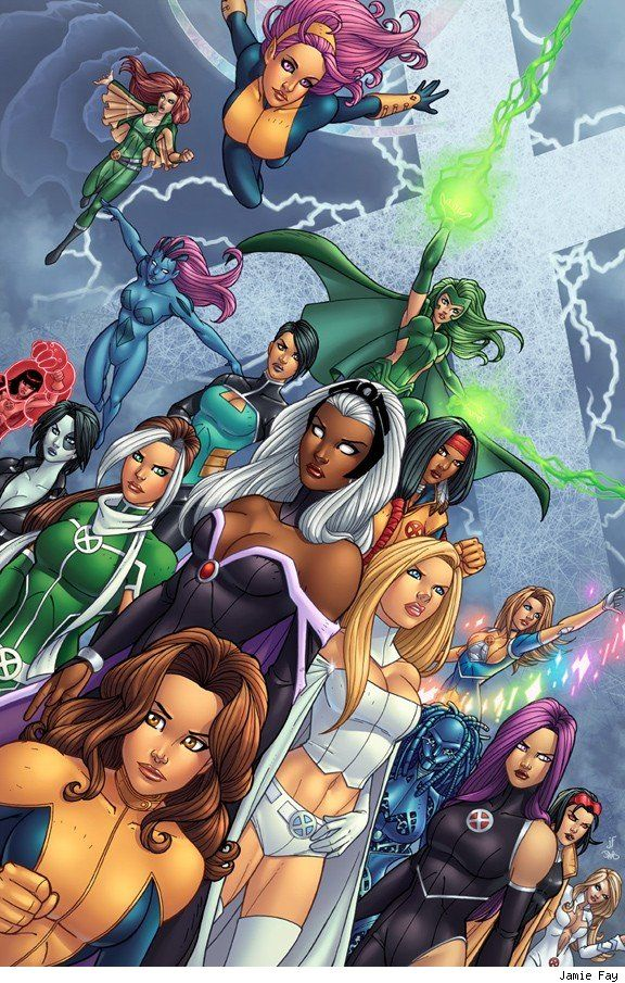 Females From The X Men There Are Actually Two In There I Can T Name I M A Little Ashamed Of Myself Marvel Girls Comics Marvel Comics