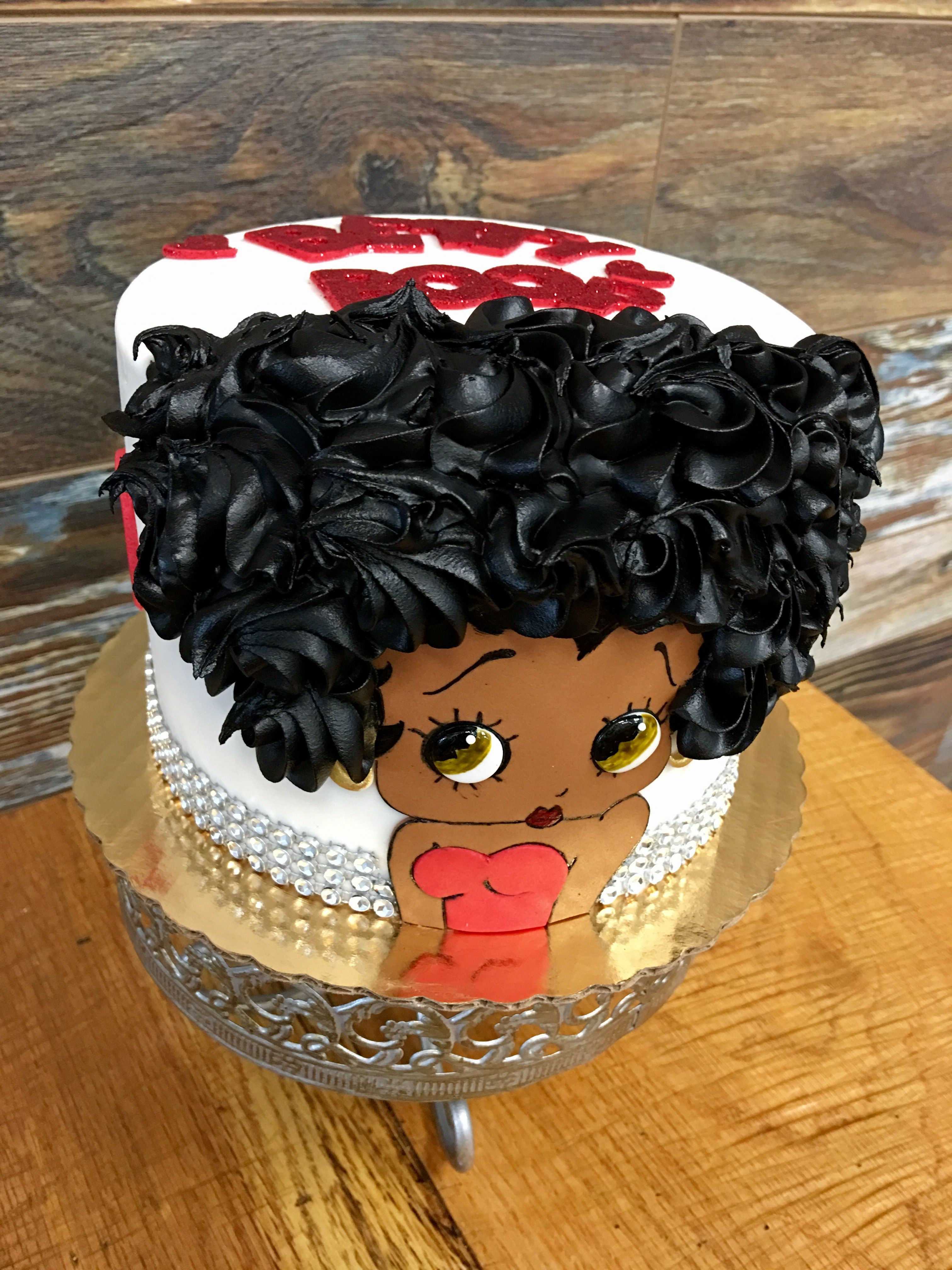 Betty Boop Afro Cake Black Betty Boop Cartoon Cake Betty Boop