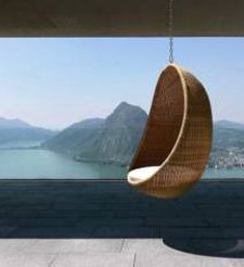 the hanging egg chair was designed by danish nanna ditzel in 1959
