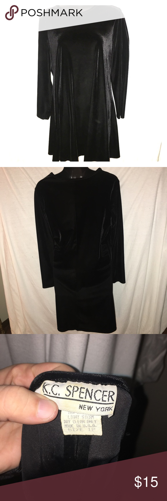 Clearance vintage black velvet dress black velvet vintage black