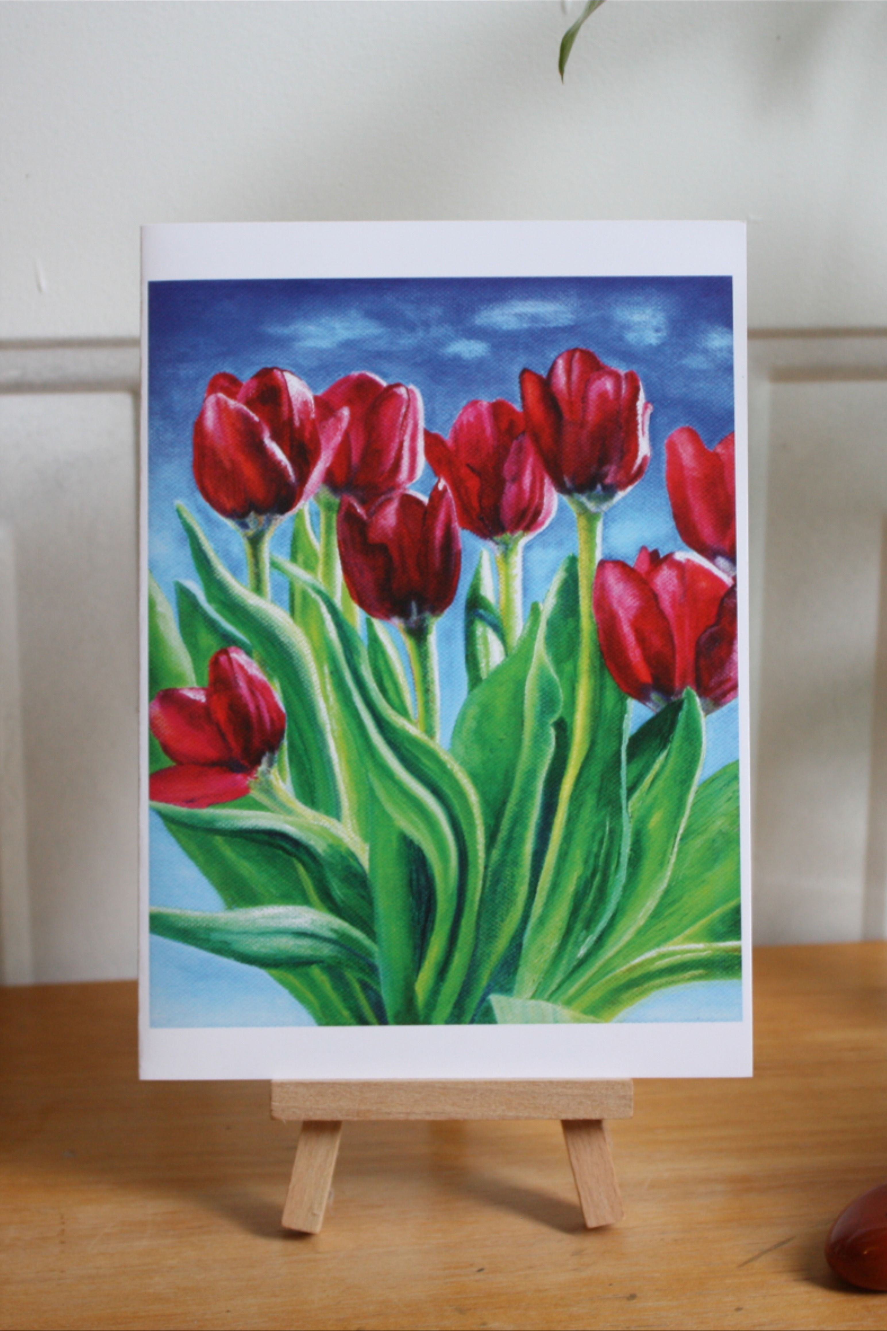 Tulips Card in 2020 Tulip painting, Tulips card, Painting