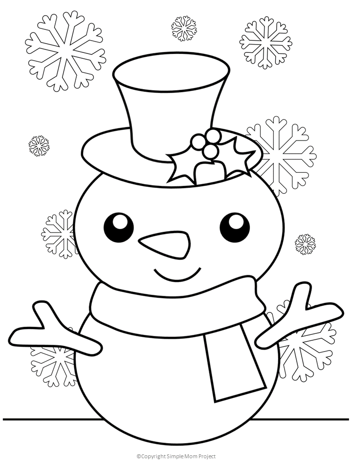 Free Snowman Coloring Page Printable Christmas Coloring Sheets Snowman Coloring Pages Christmas Coloring Sheets For Kids