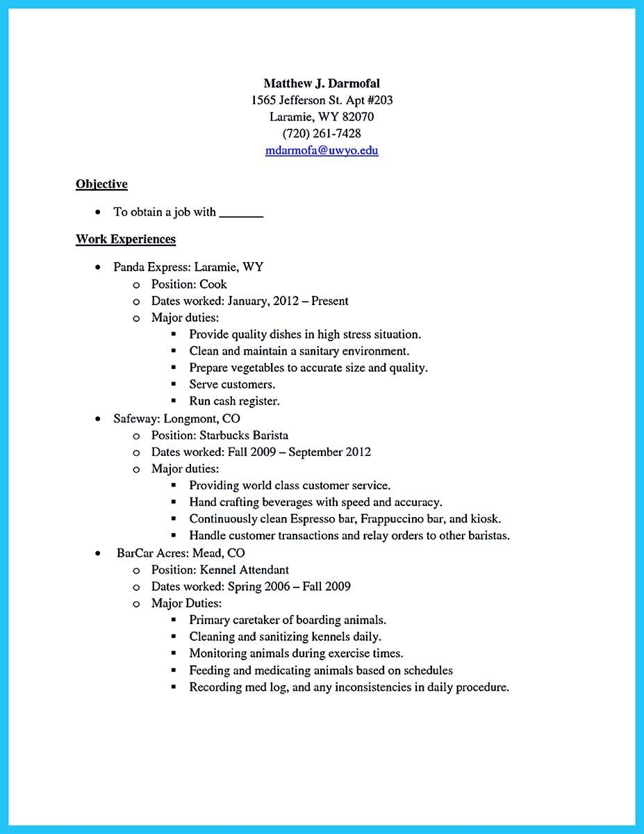 Exceptional Cool 30 Sophisticated Barista Resume Sample That Leads To Barista Jobs,  Check More At Http Pertaining To Barista Job Description Resume