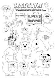 English teaching worksheets: Animal habitats | teaching | Animal ...
