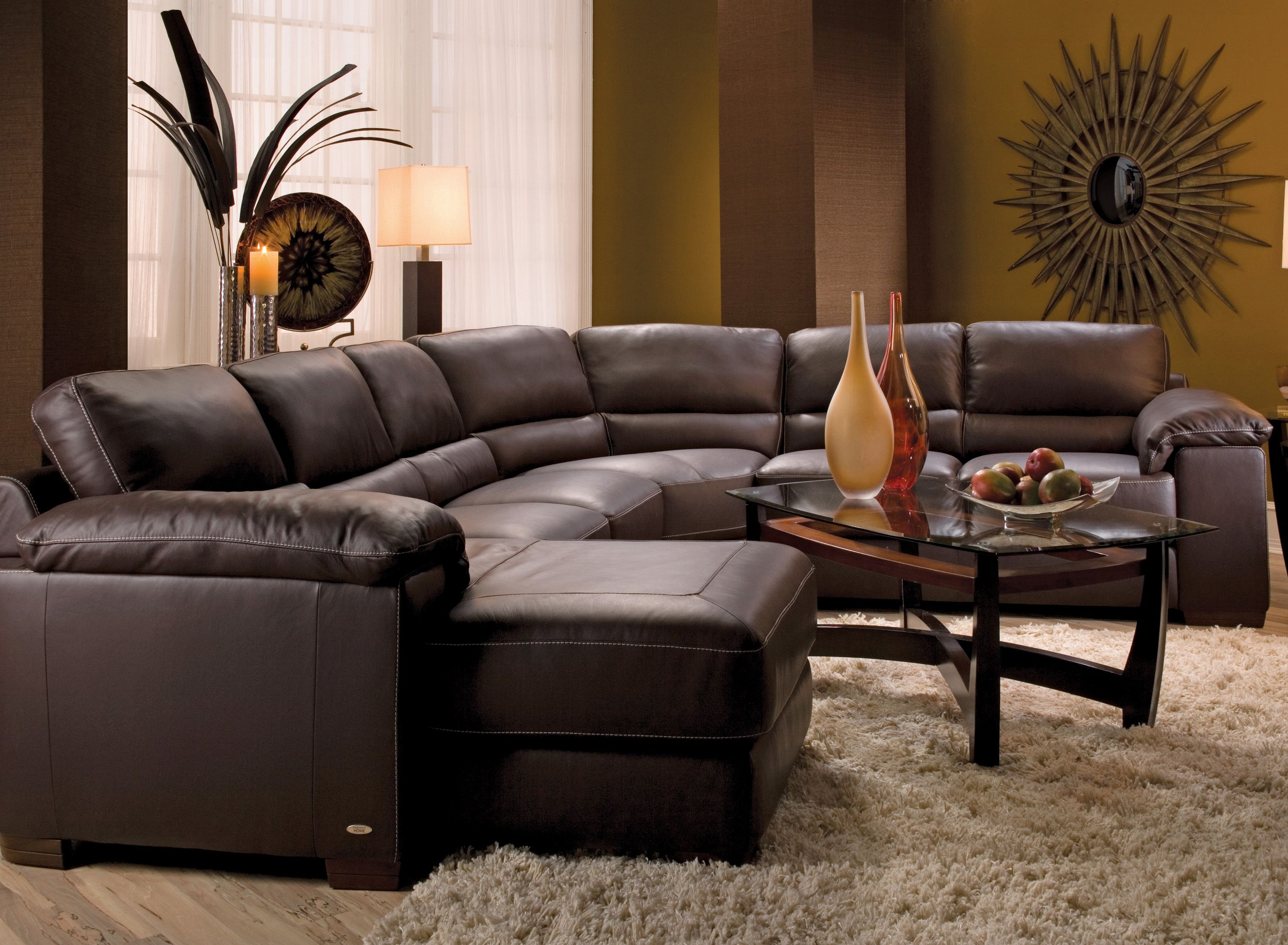 Sensational Cindy Crawford Maglie 4 Pc Leather Sectional Sofa Download Free Architecture Designs Scobabritishbridgeorg
