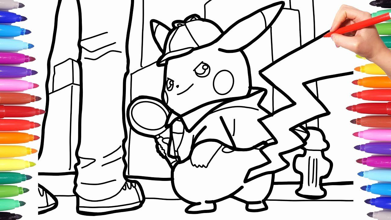 Detective Pikachu Coloring Page Best Of Detective Pikachu Coloring Pages For Kids How To Pikachu Coloring Page Pokemon Coloring Pages Superhero Coloring Pages