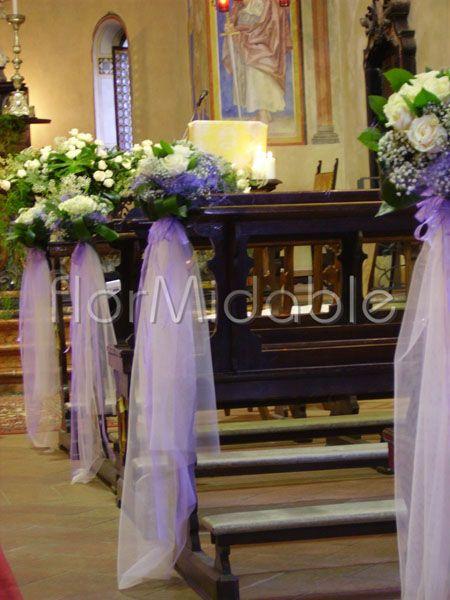 Church Wedding Decorations Purple