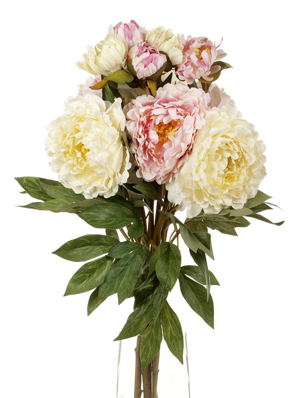Floral Elegance Artificial 80cm Single Stem Peony Flowers