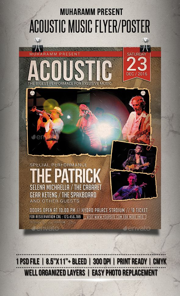 Acoustic Music Flyer  Poster  Music Flyer