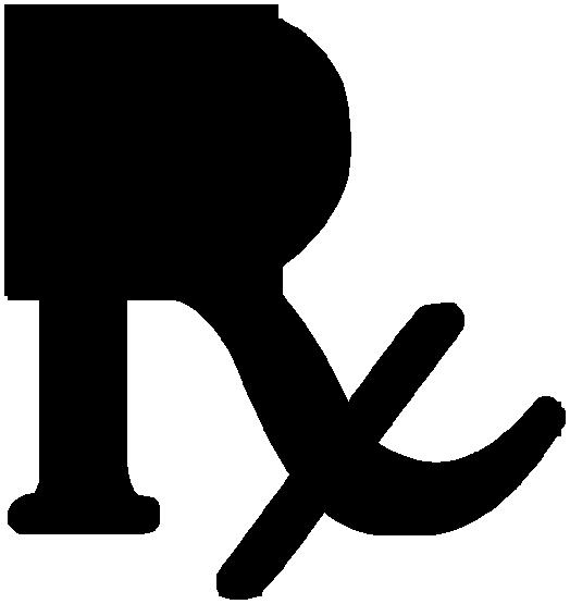 rx symbol black legged plain clipart image ipharmd net
