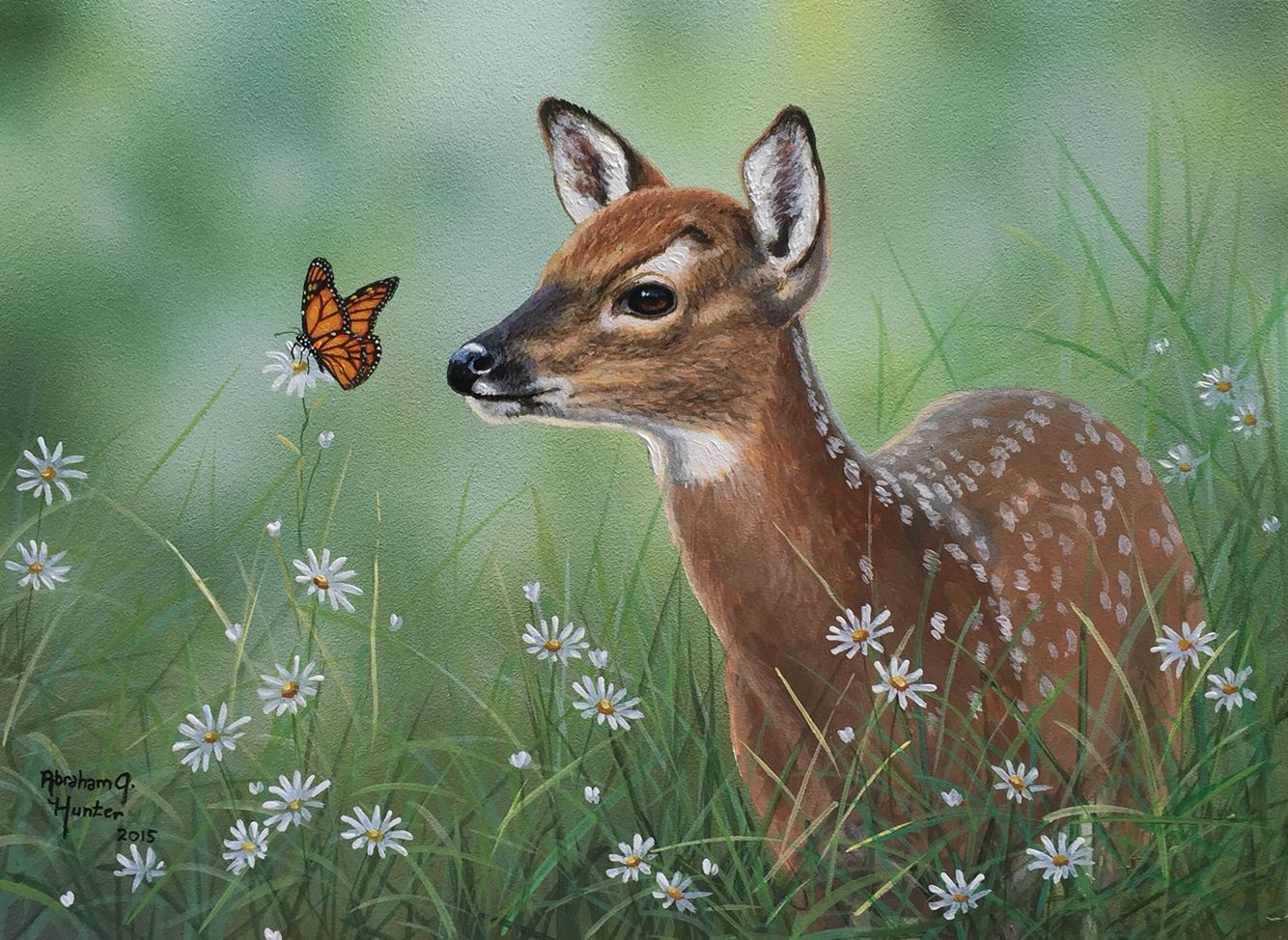 Abraham Hunter Paintings Animal