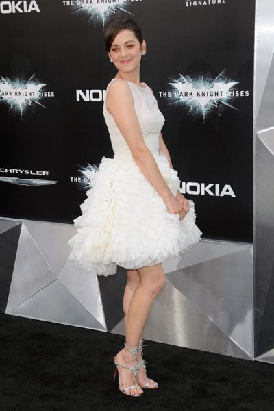 Anne Hathaway and Marion Cotillard wow in white at Dark Knight Rises premiere