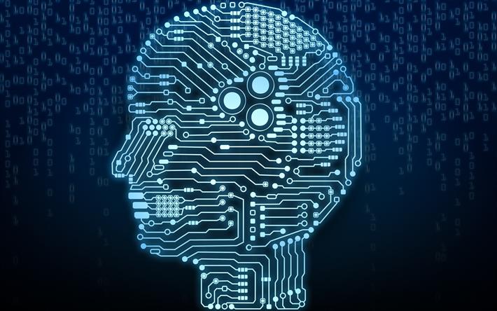 Scarica Sfondi La Tecnologia Digitale Cervello Intelligenza