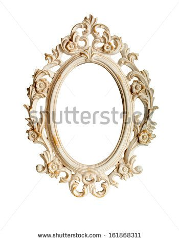 Oval ornate vintage frame isolated over white background | MIRRORS ...