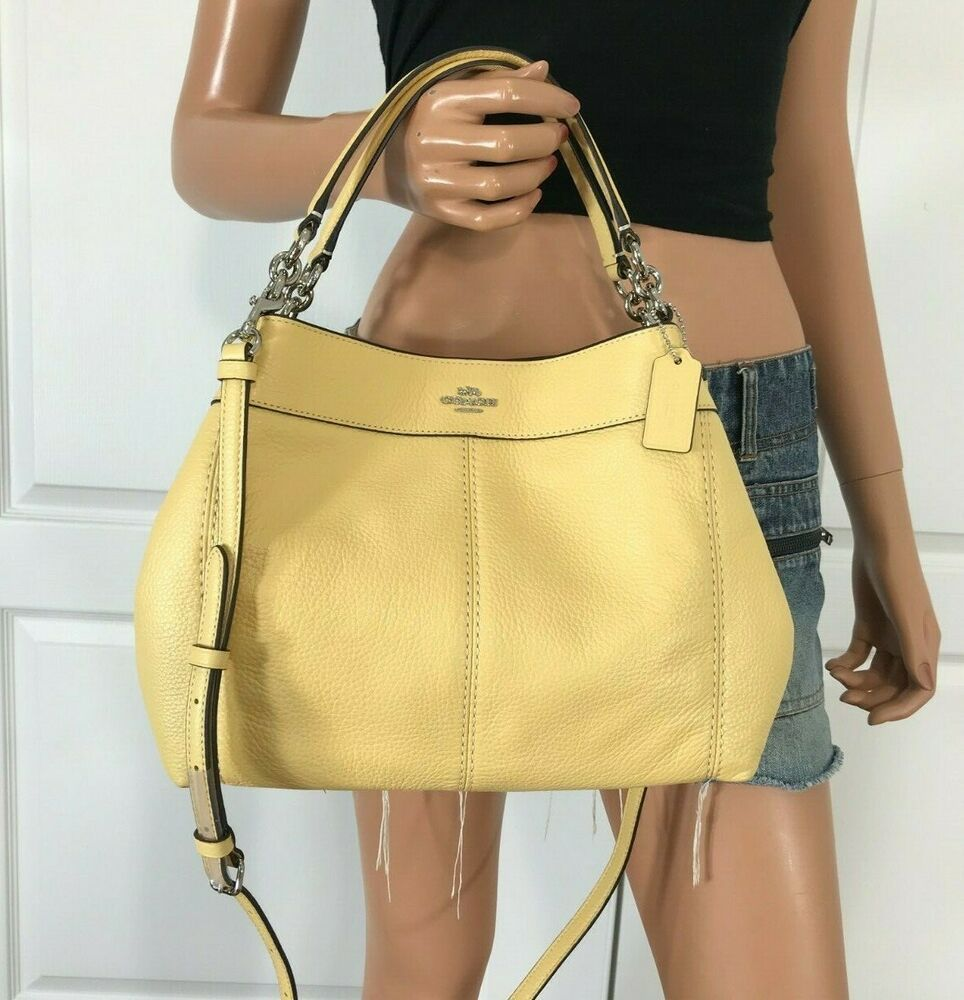 COACH F28992 LEXY YELLOW SMALL PEBBLED LEATHER CROSSBODY