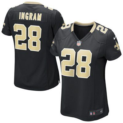 sale retailer cb951 6e004 Girls Youth New Orleans Saints Mark Ingram Nike Black ...