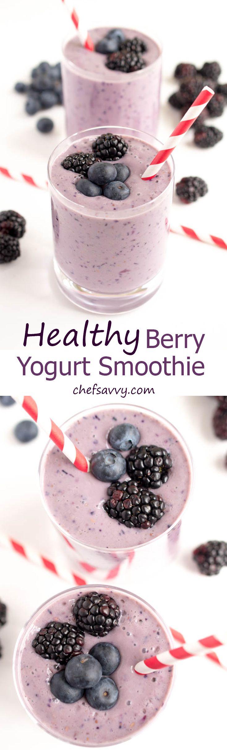 Healthy Berry Yogurt Smoothie #fruitsmoothie