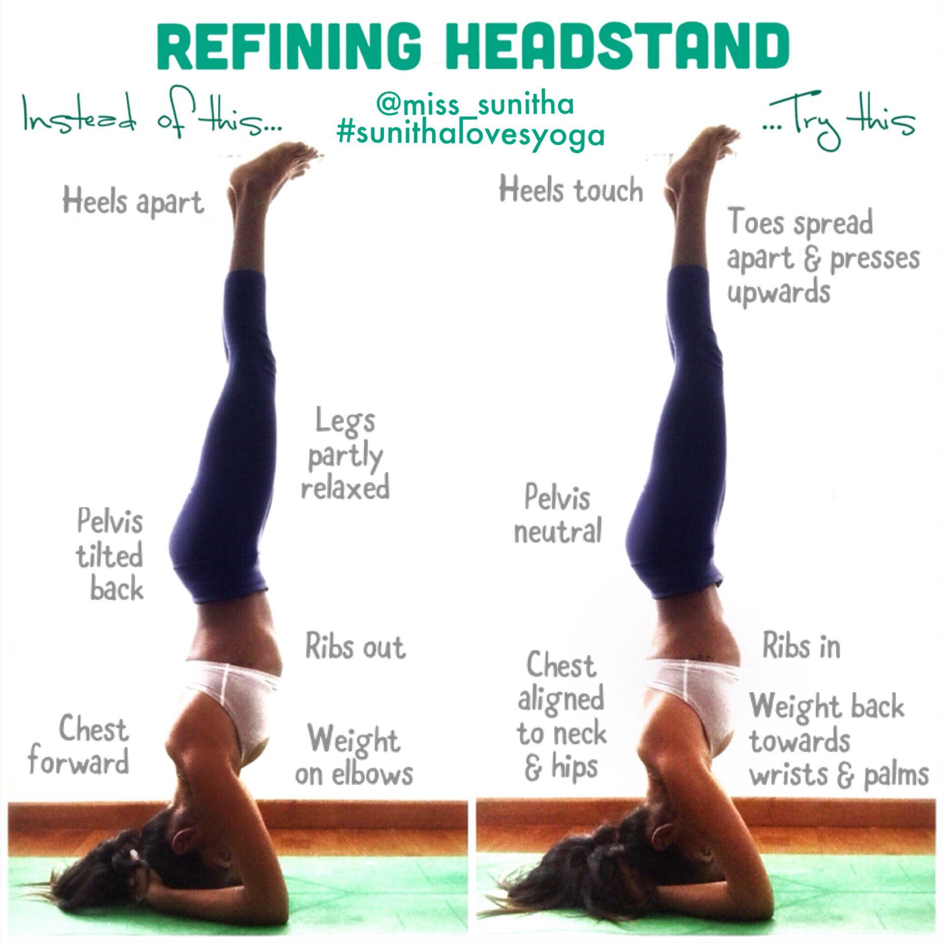 Yoga Tutorial On Refining Headstand Sirsasana Miss Sunitha Sunithalovesyoga Yoga Tutorial Easy Yoga Workouts Yoga Images