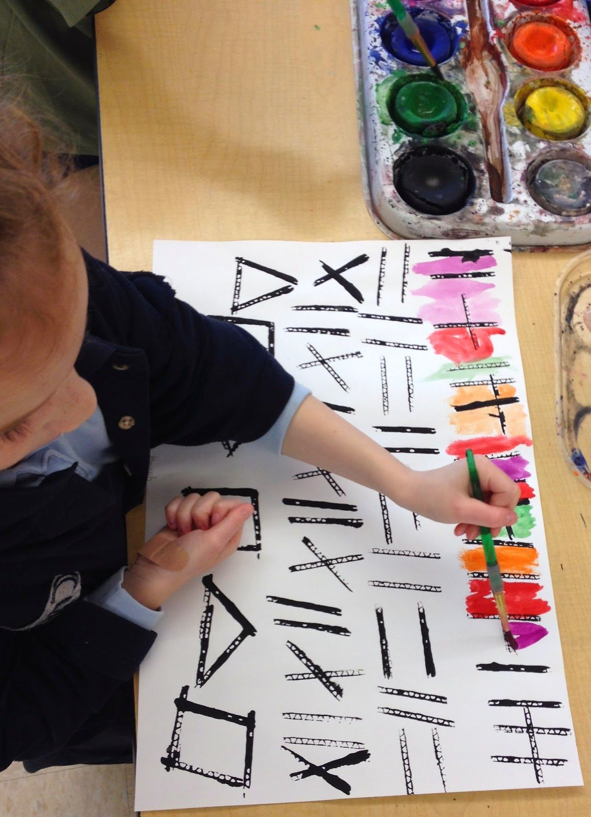 Art Matters: Stamped/Painted Patterns