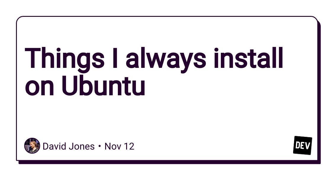Things I Always Install On Ubuntu 1password Installation Really Cool Stuff