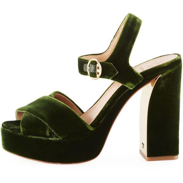 f8a67c4b3810ad Tory Burch Loretta Velvet Platform Sandal