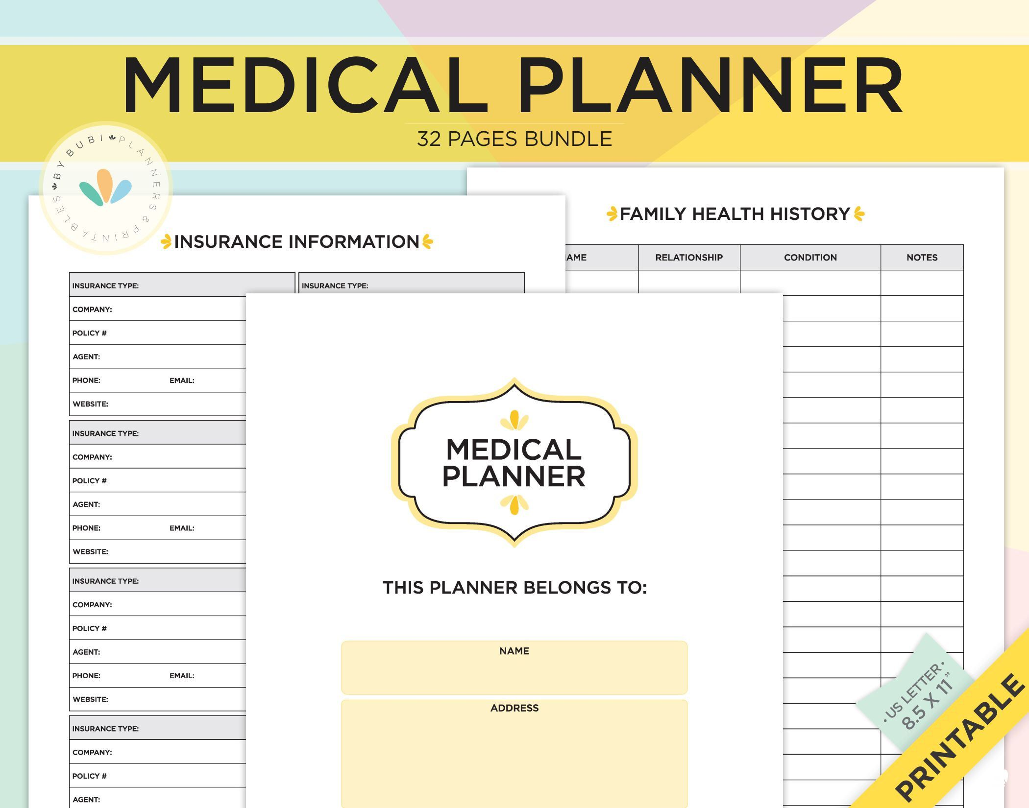 Pin On Medical Healt Wellness Planner