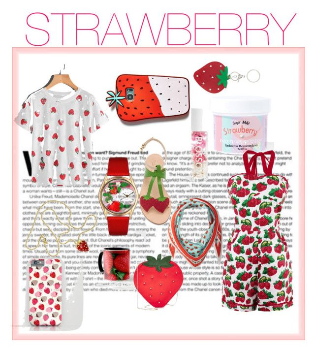 """""""MY FAVORITE FRUIT- STRAWBERRY🍓🍓🍓🍓🍓🍓🍓🍓🍓🍓🍓🍓🍓🍓🍓"""" by style-me-girl ❤ liked on Polyvore featuring Echo Design, Kenneth Jay Lane, Cornetti, Blossom, Celebrate Shop, Sugar Milk Co, Forever 21, Charlotte Olympia and Whimsical Watches"""