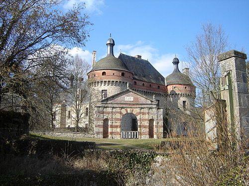 Château de Saint-Germain-Beaupré entrance Limousin Places