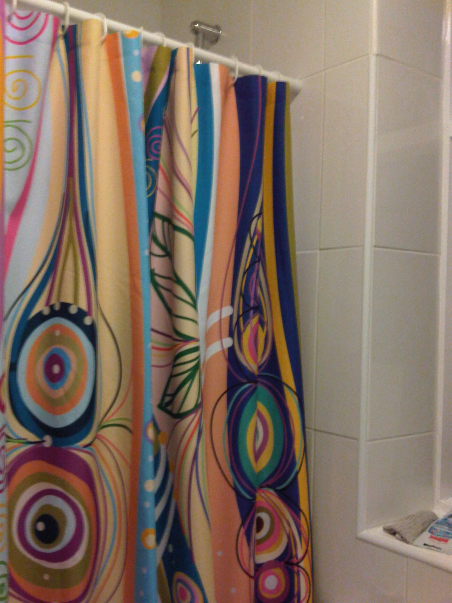 lovely new shower curtain