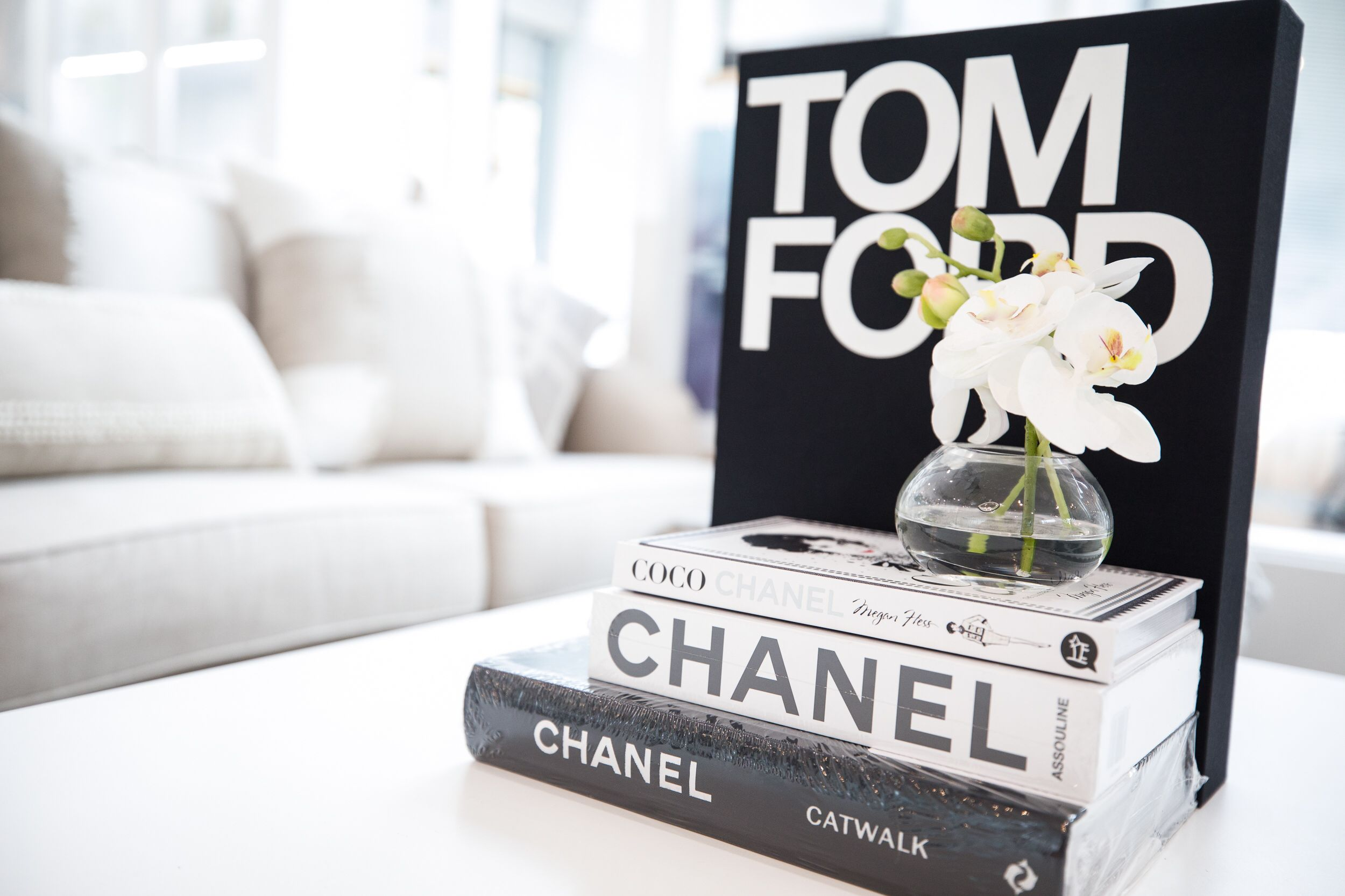 Tom Ford And Chanel Book Stack Compliment Your Coffee Table