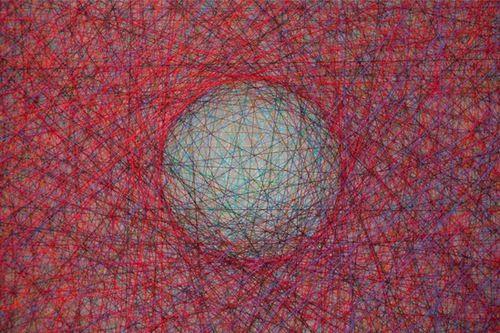 Opens Tomorrow Jan 9 6-8p:Thread Paintings And Larvae...