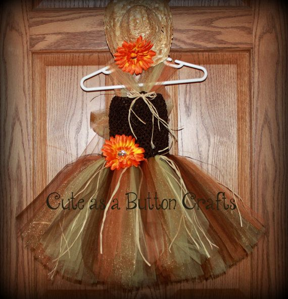 Scarecrow Tutu Costume - Infant Halloween Costume - Toddler - 18 month halloween costume ideas