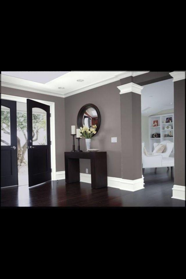 Decorating with Black Entrada, Consolas y Salón - pinturas para salas