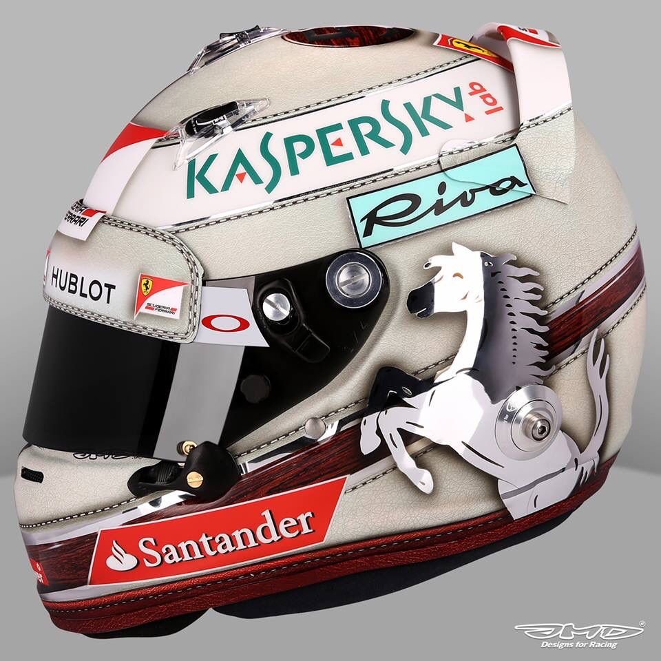 Sebastian Vettel Helmets Scuderia Ferrari- Monaco GP 2016