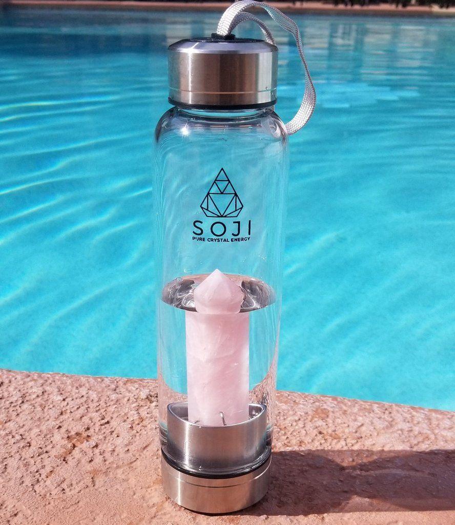 Rose Quartz Crystal Elixir Water Bottle | ᴅʀɪᴘ ᴅʀɪᴘ in