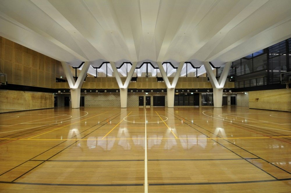 Gallery Of Multi Purpose Sports Hall And Teaching Facility Ptw Architects 8 Sport Hall Multipurpose Hall Hall