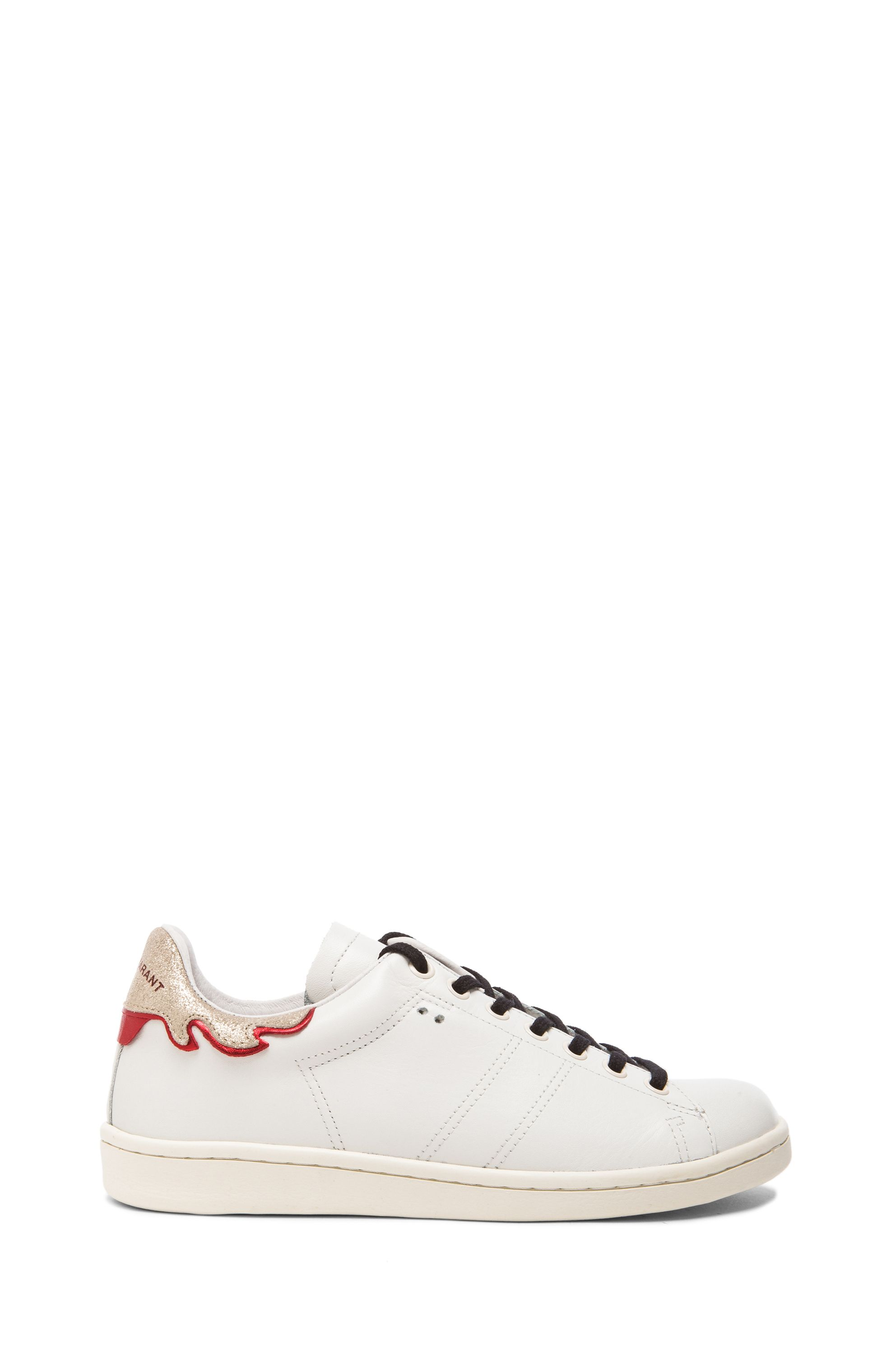 6daded5736 Isabel Marant Bart Leather Sneakers in Silver & White | THE PERFECT ...