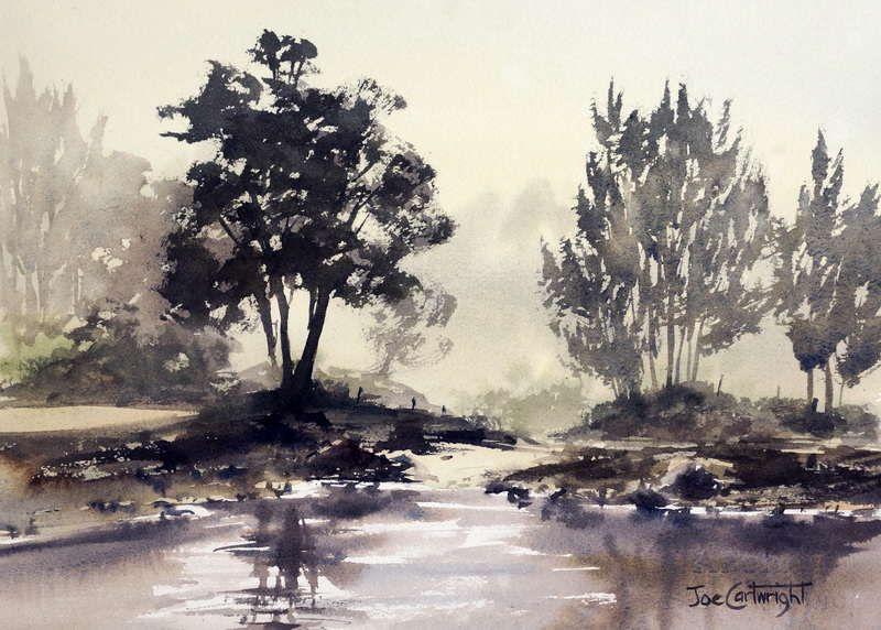 Watercolor Painting Rivers Gallery By Joe Cartwright Australian