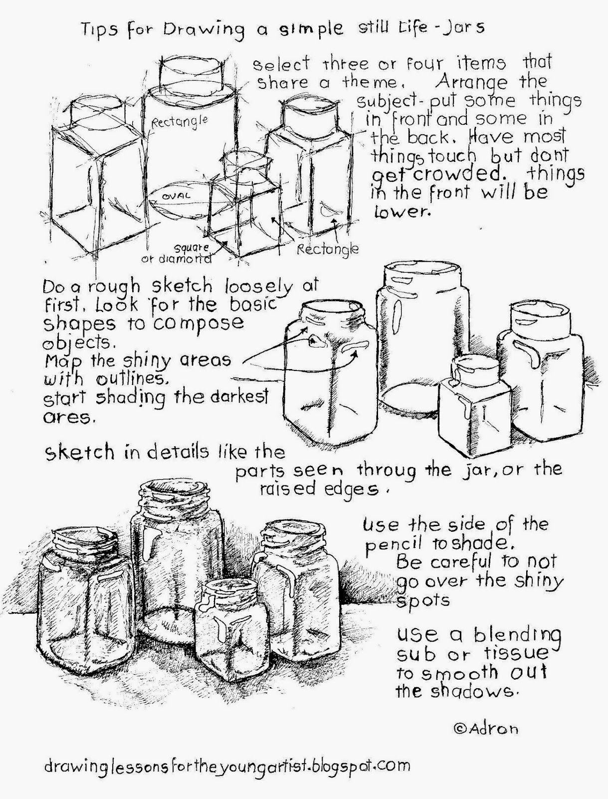 tips for how to draw a still life free printable worksheet - Printable Drawing Worksheets