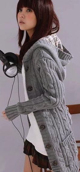 Super Longline Hooded Cardigan