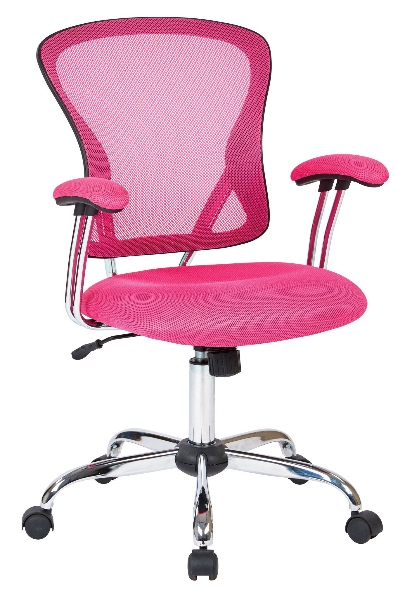 Ave Six Juliana Task Chair in Pink Mesh at Harvey & Haley for