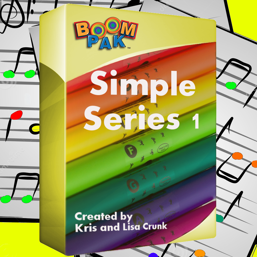 "A sheet music bundle of 10 simple ""Boomwhacker®"" arrangements for ..."