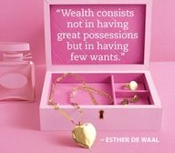 cute love quote: Wealth consists not in having great  professions