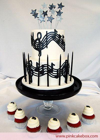 @KatieSheaDesign ♡❤ #Cake ❥  music cake