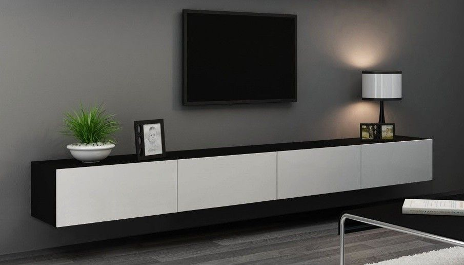 tv kast. nasmaak - victor zwevend design tv meubel 280 cm tv kast e